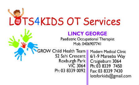 lots for kids occupational therapy melbuorne roxburgh park